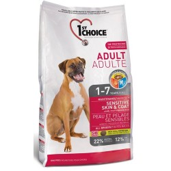 1st Choice Adult Dog All Breeds Sensitive Skin & Coat Jagnięcina, ryby i brązowy ryż 15kg