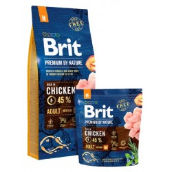 Brit Premium By Nature Adult M Medium 3kg