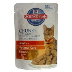 Hill's Feline Adult Chicken Optimal Care saszetka 85g