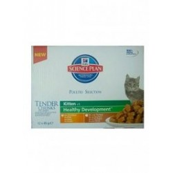 Hill's Feline Kitten Multipak Chicken + Turkey Healthy Development saszetka 12x85g
